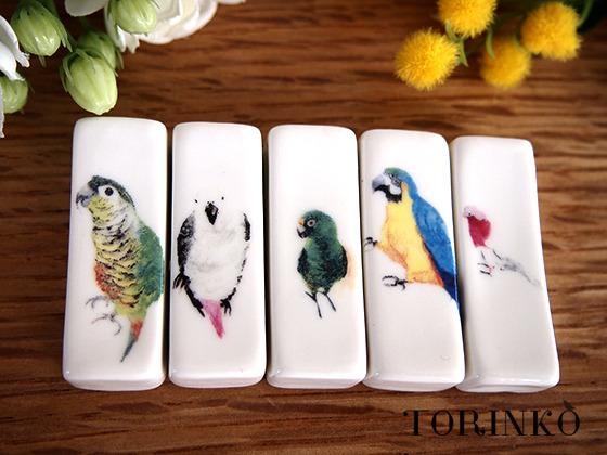 鳥の箸置き Aセット (はしおき インコ・オウム)