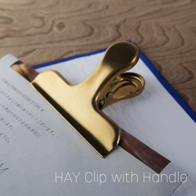HAY CLIP クリップ ウィズ ハンドル [GOLD]
