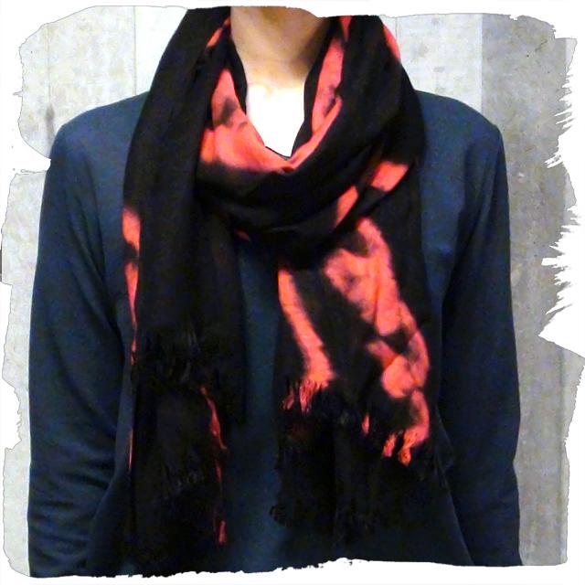 [アウトレット] SHIBORI SCARF 絞り染めスカーフ 日本製