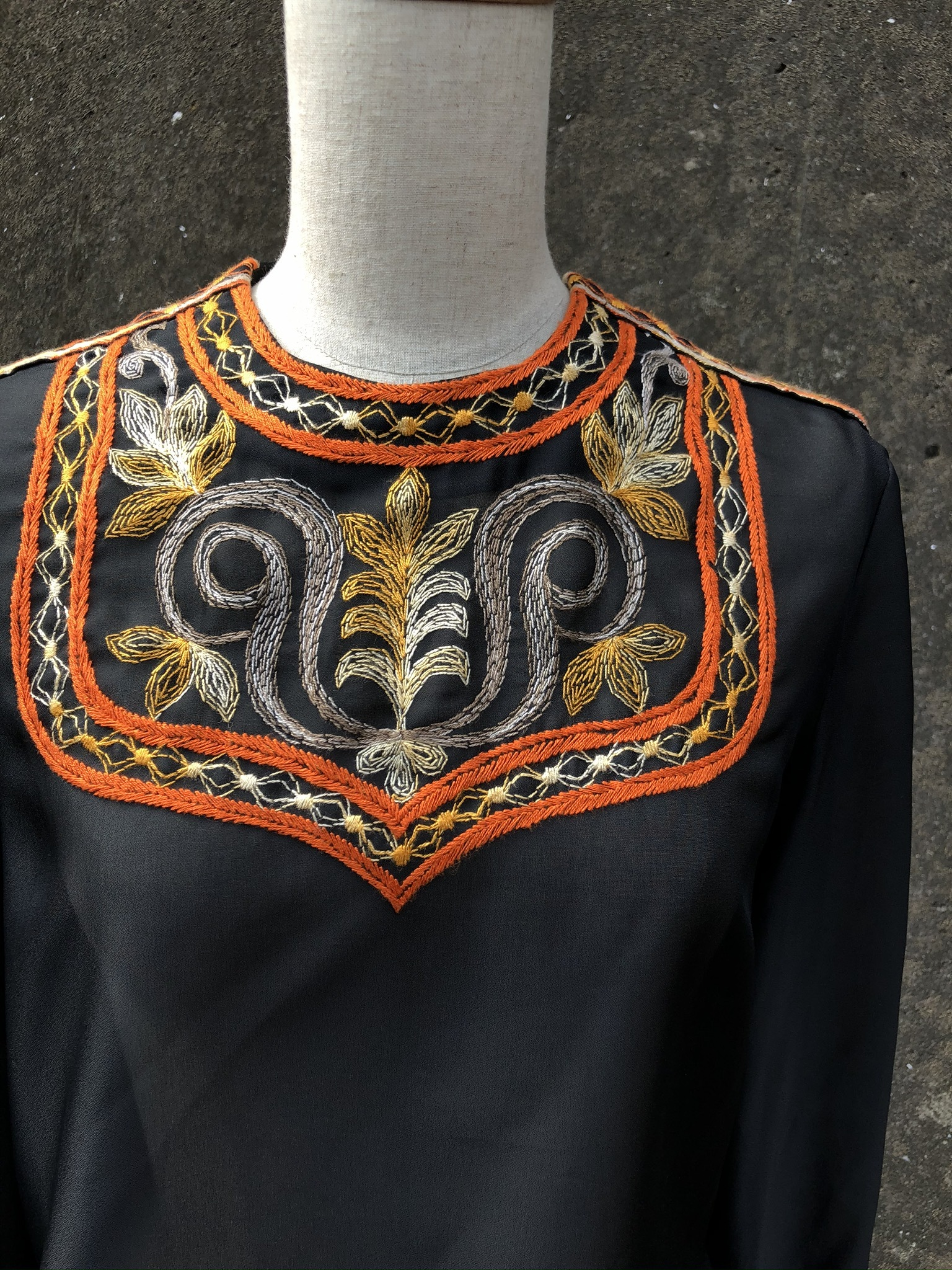 sheer enbroidery tunic