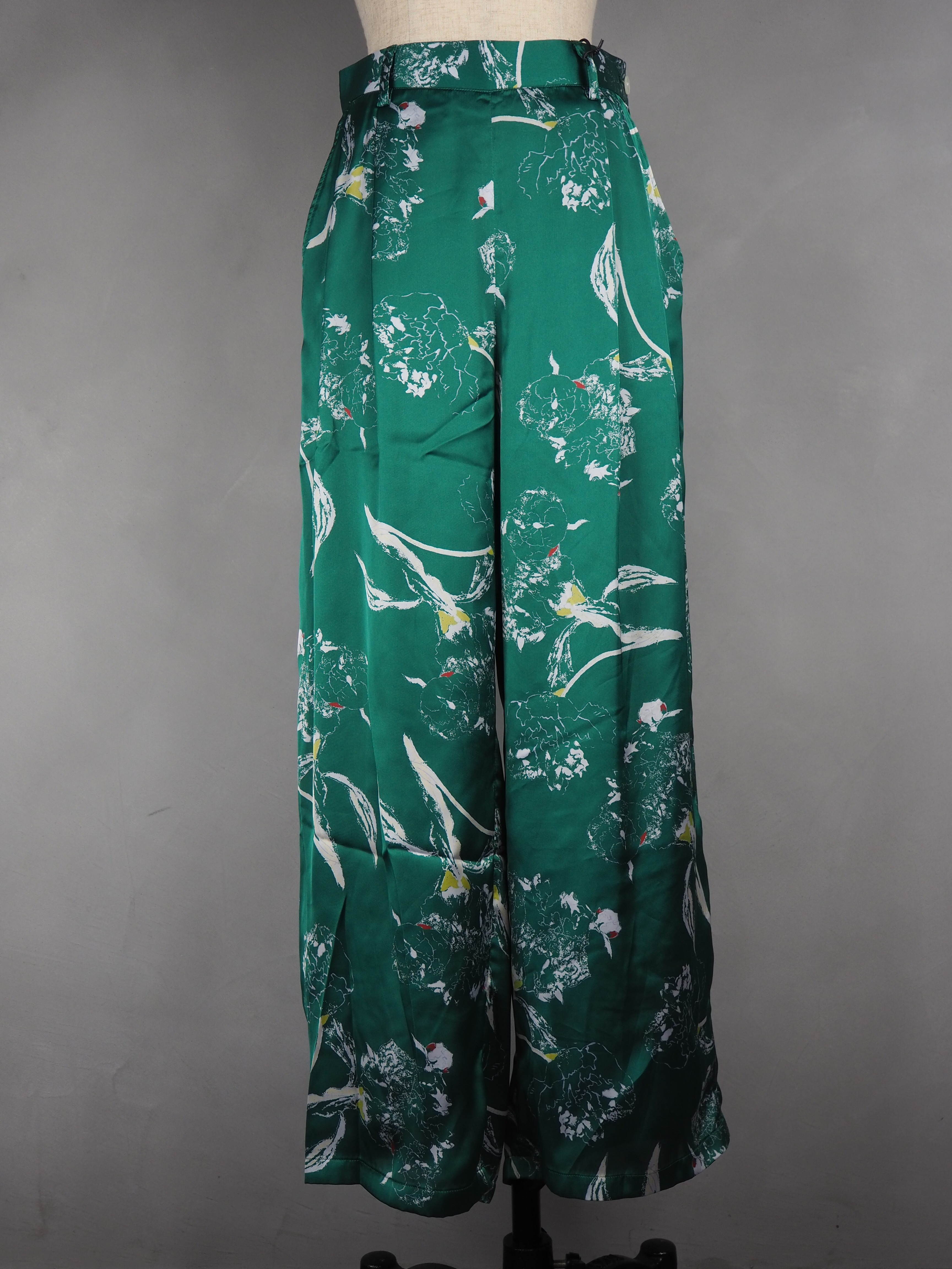 【MANON】DRAWING FLOWER WIDE PANTS