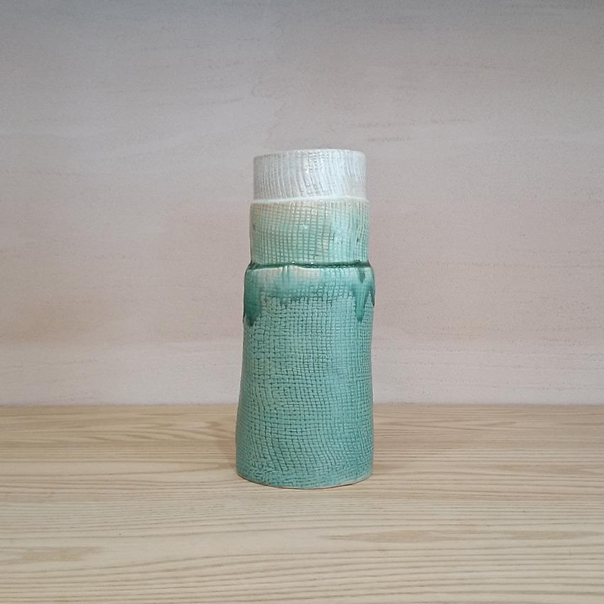 陶器 ツリー グリーングラデーション