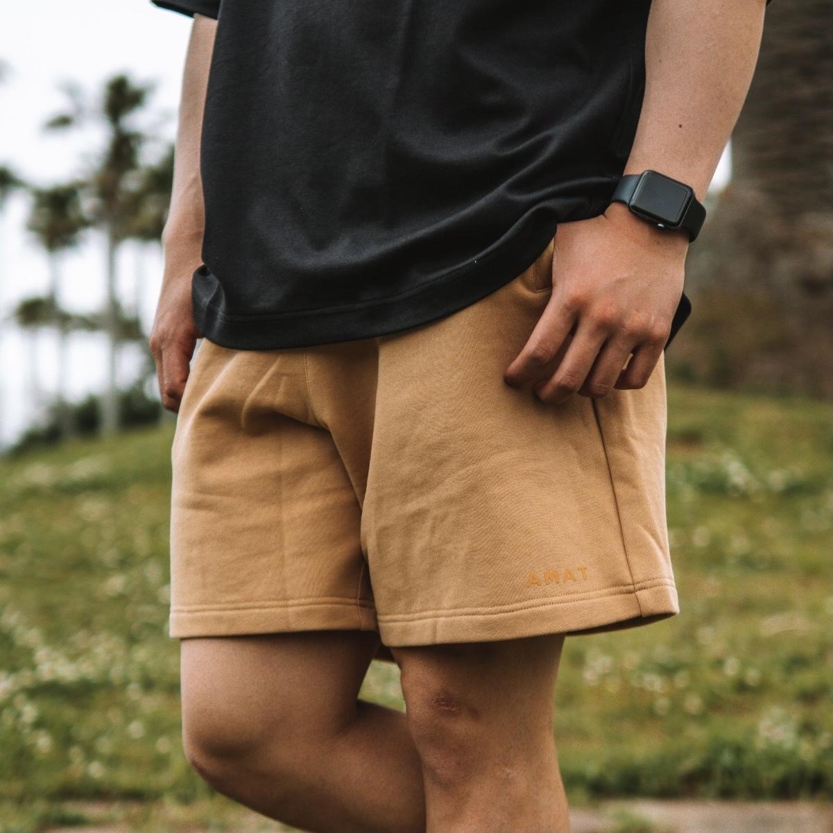 """""""FLEX"""" Wide Shorts (Beige)"""