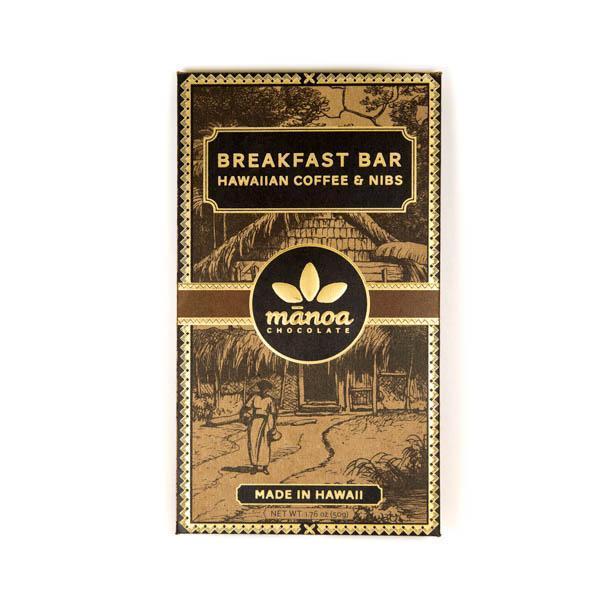 【manoa/マノア】 60%ミルク ブレックファースト・バー ハワイアンコーヒー&ニブ