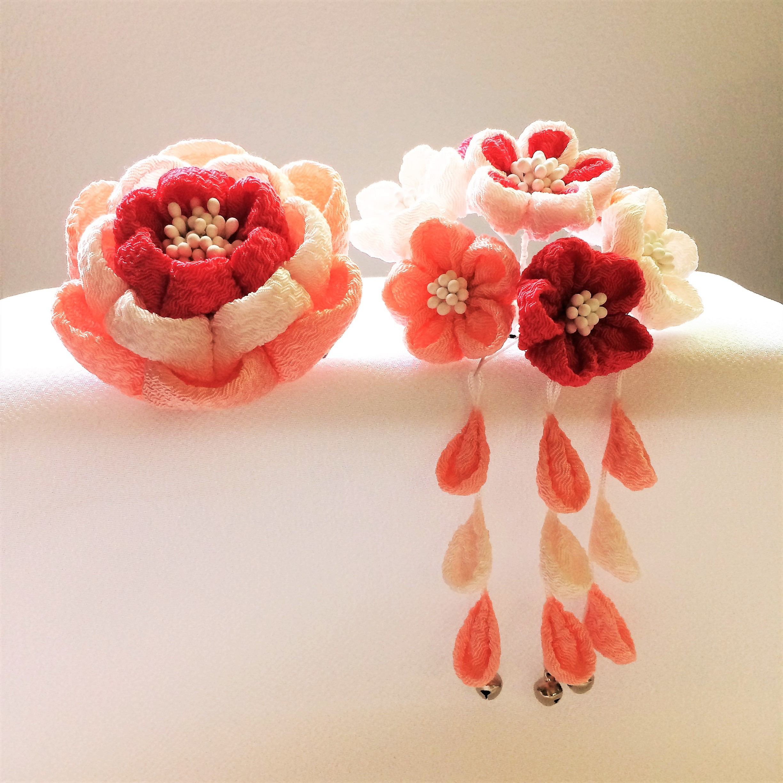 七五三かんざし 福梅と小花