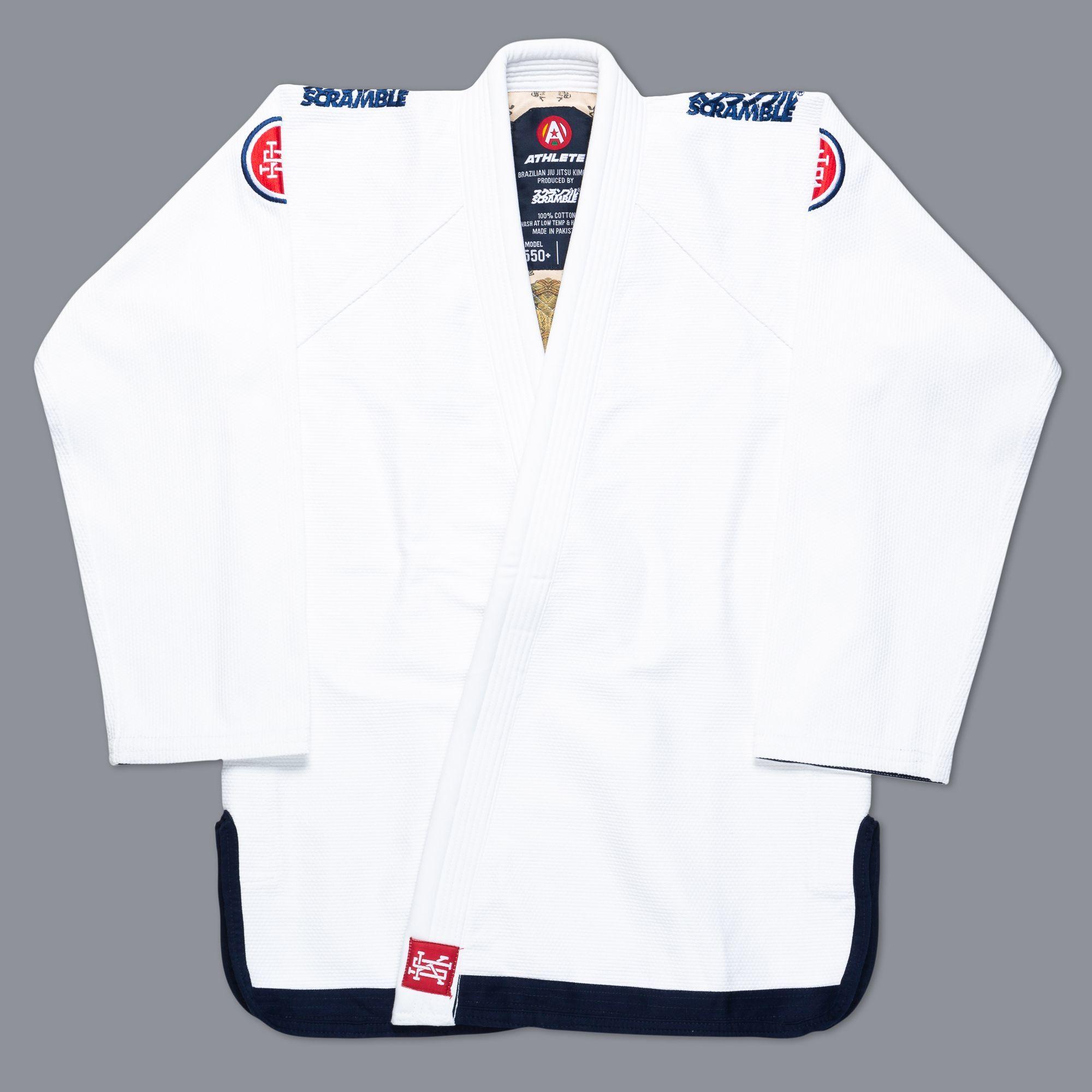 SCRAMBLE ATHLETE 4: 550+ ( ホワイト、白)|ブラジリアン柔術衣
