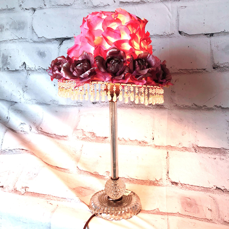 品番2550 スタンドライト テーブルランプ バラ 花びら シャンデリア 照明 インテリア レトロ アンティーク