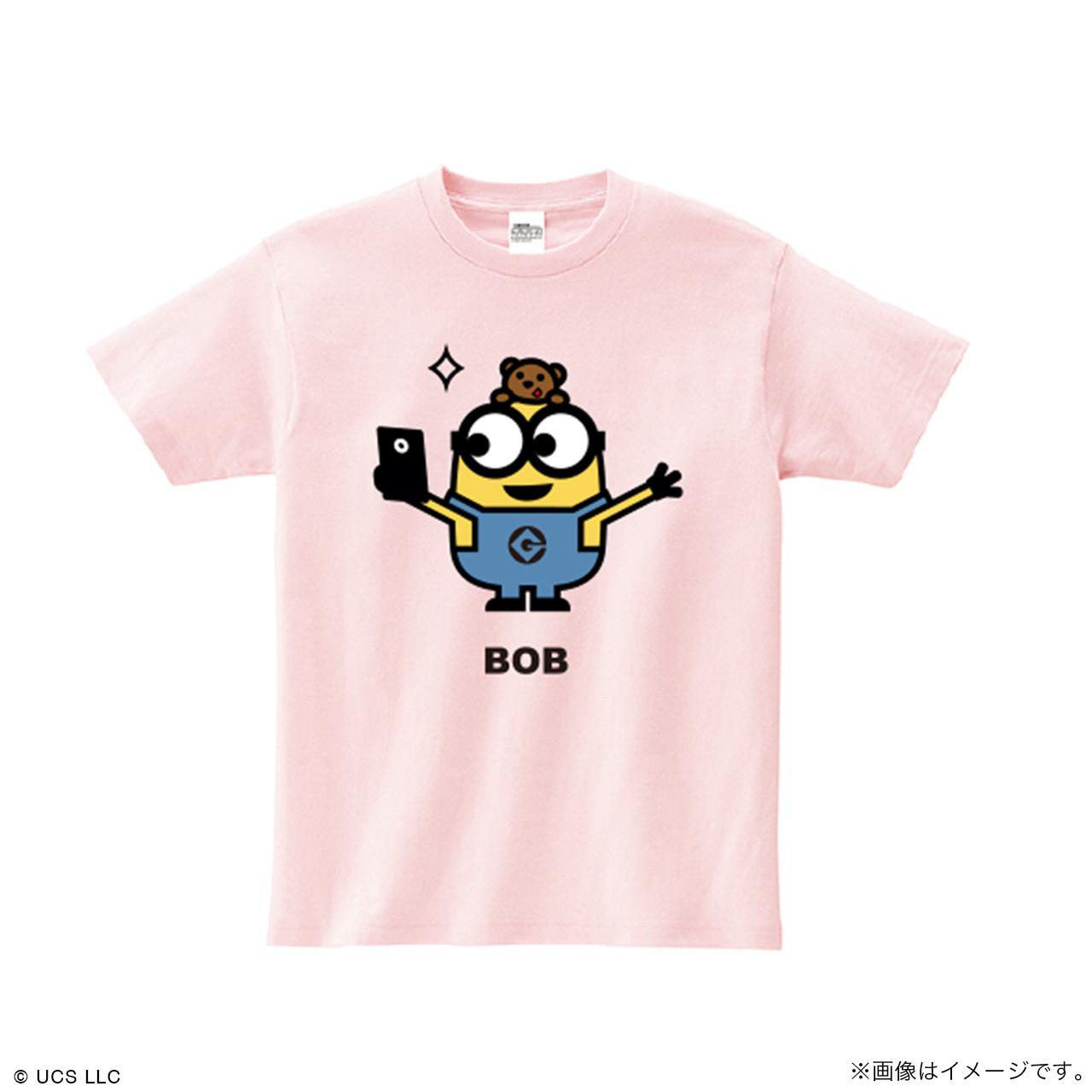 キッズTシャツ/ミニオン(ボブ ピンク)【MINIONS POP UP STORE 限定】