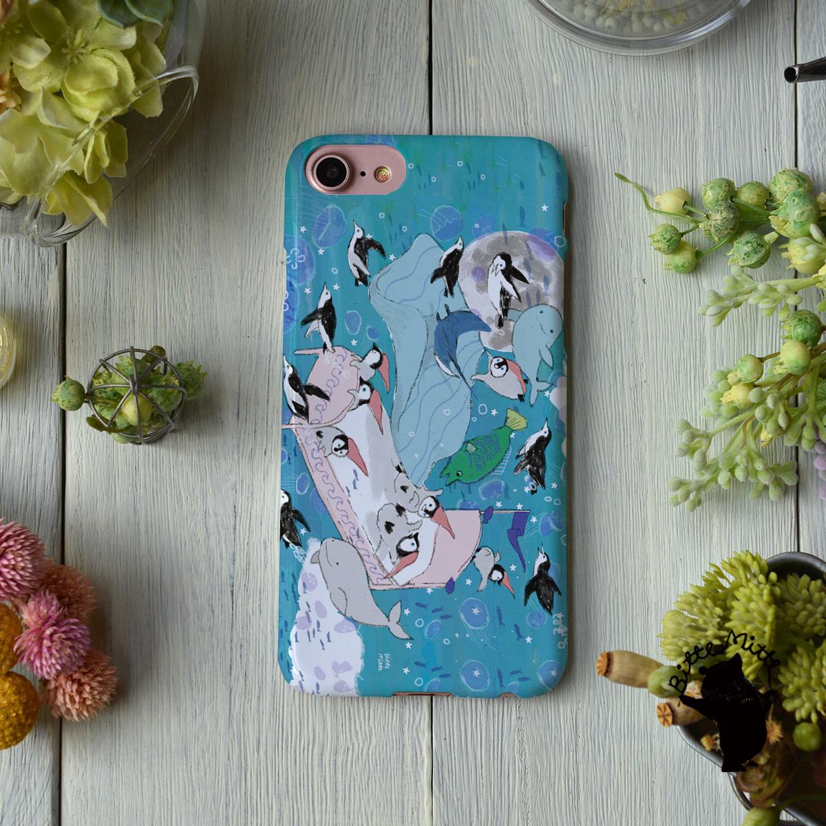 iphone8 ハードケース おしゃれ iphone8 ハードケース シンプル iphone7 ケース かわいい ペンギン イルカ 海 海の中でおやすみ/Bitte Mitte!