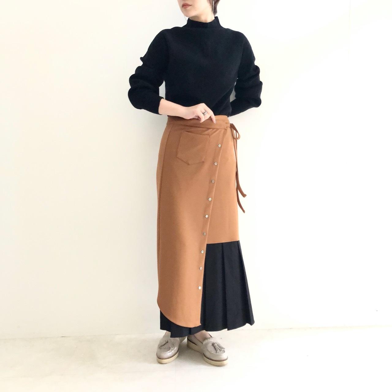【 TRANOI 】- 136R510 - wrap skirt