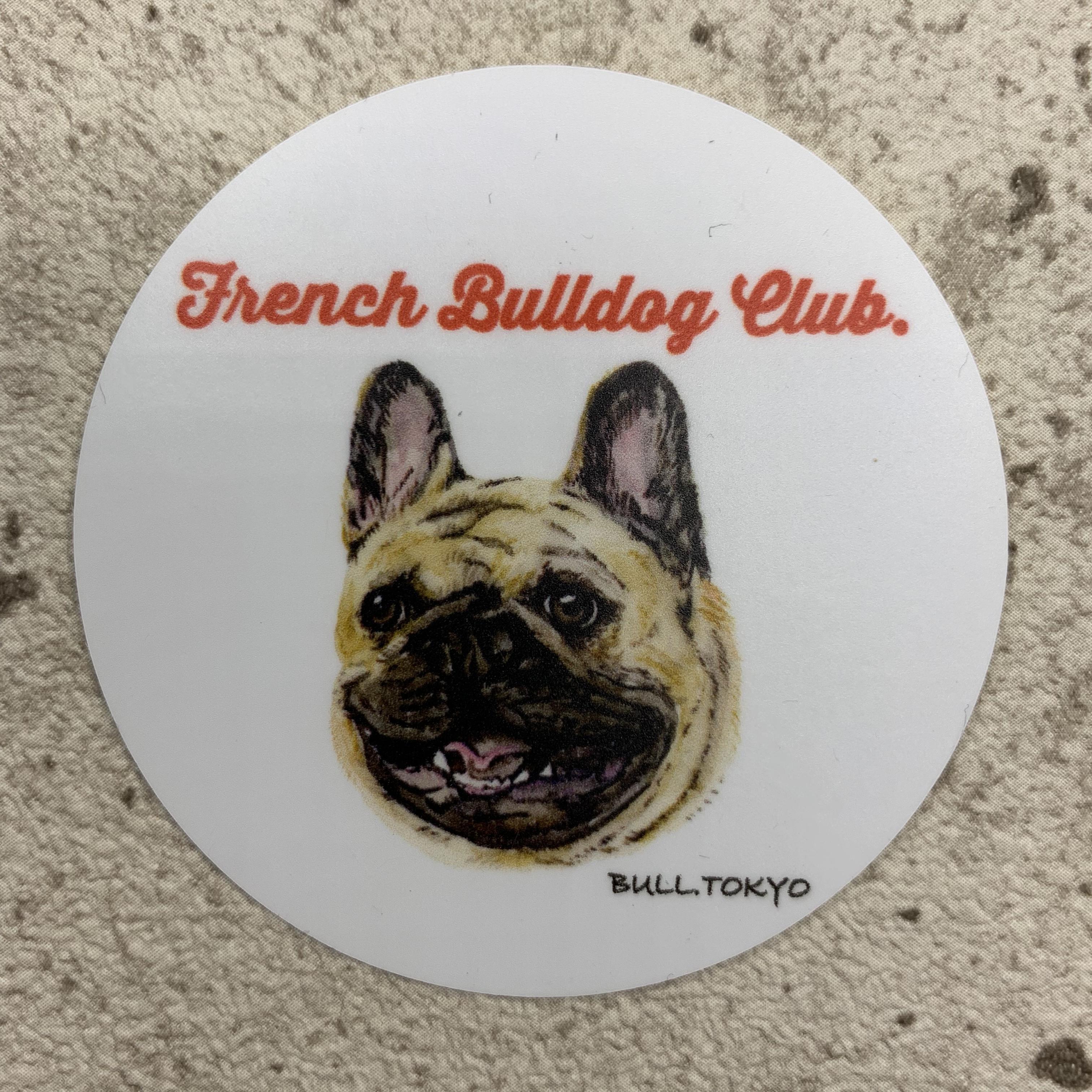 Bull.Tokyo オリジナル ステッカー Part.2 「- French Bulldog Club -」フォーン