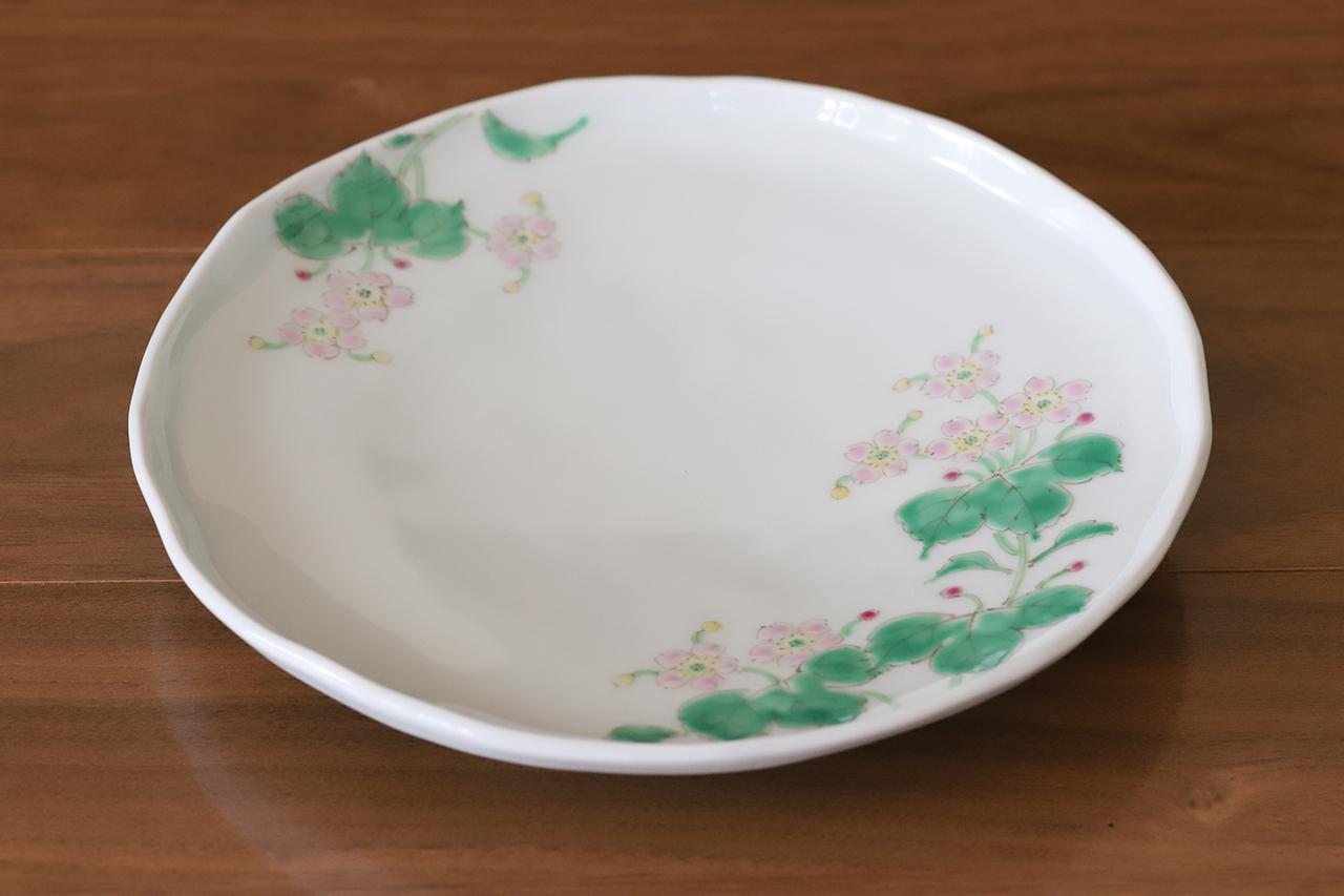藍水 シュウメイギク 6寸皿 直径約18cmパン皿に使える大きさの器 うつわ藍水(波佐見焼)