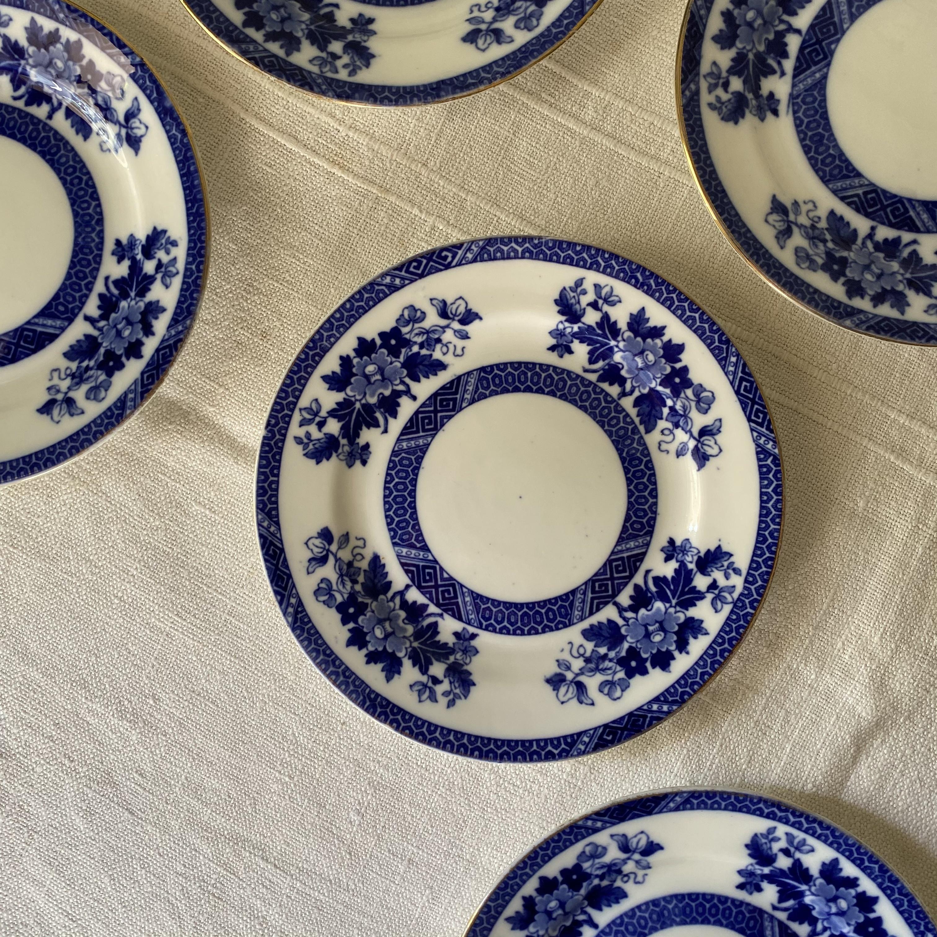 渋めなブルーのお皿