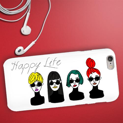 """スマホケース・""""HAPPY LIFE"""""""