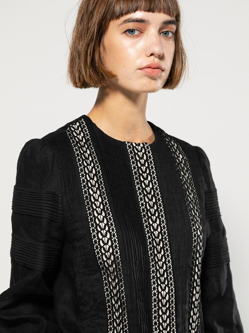 pin-tucked race blouse