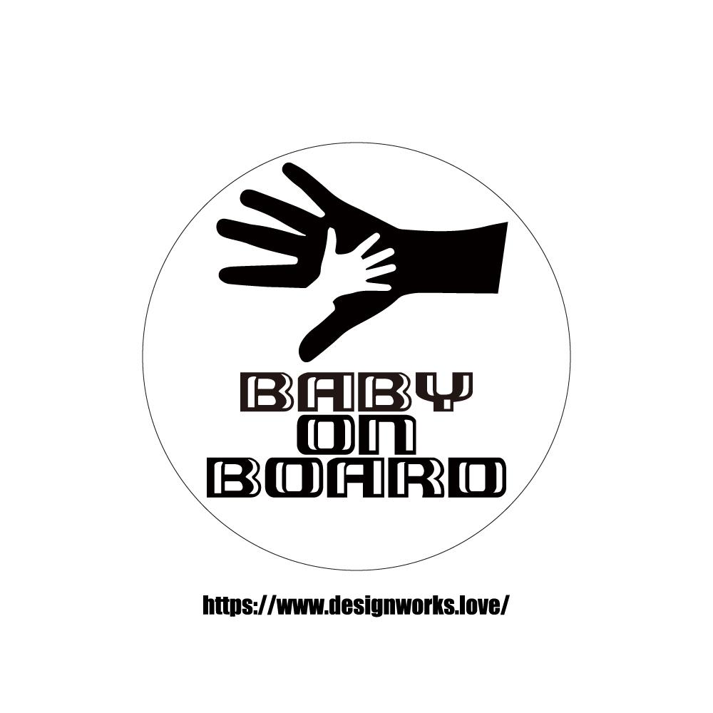 マグネット 全8色 BABY ON BOARD 親子 HAND