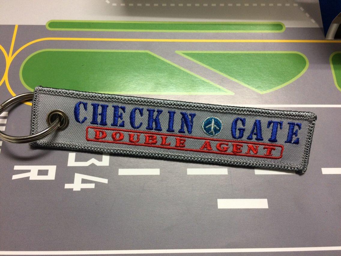 RemoveBeforeFlightキーホルダー/CHECKIN GATE