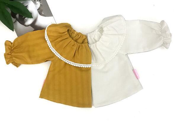 6f64aa695ede9 秋冬 キッズ 子供 女の子 トップス ブラウス フリル 襟付き 長袖 バルーン袖 可愛い おしゃれ お出かけ