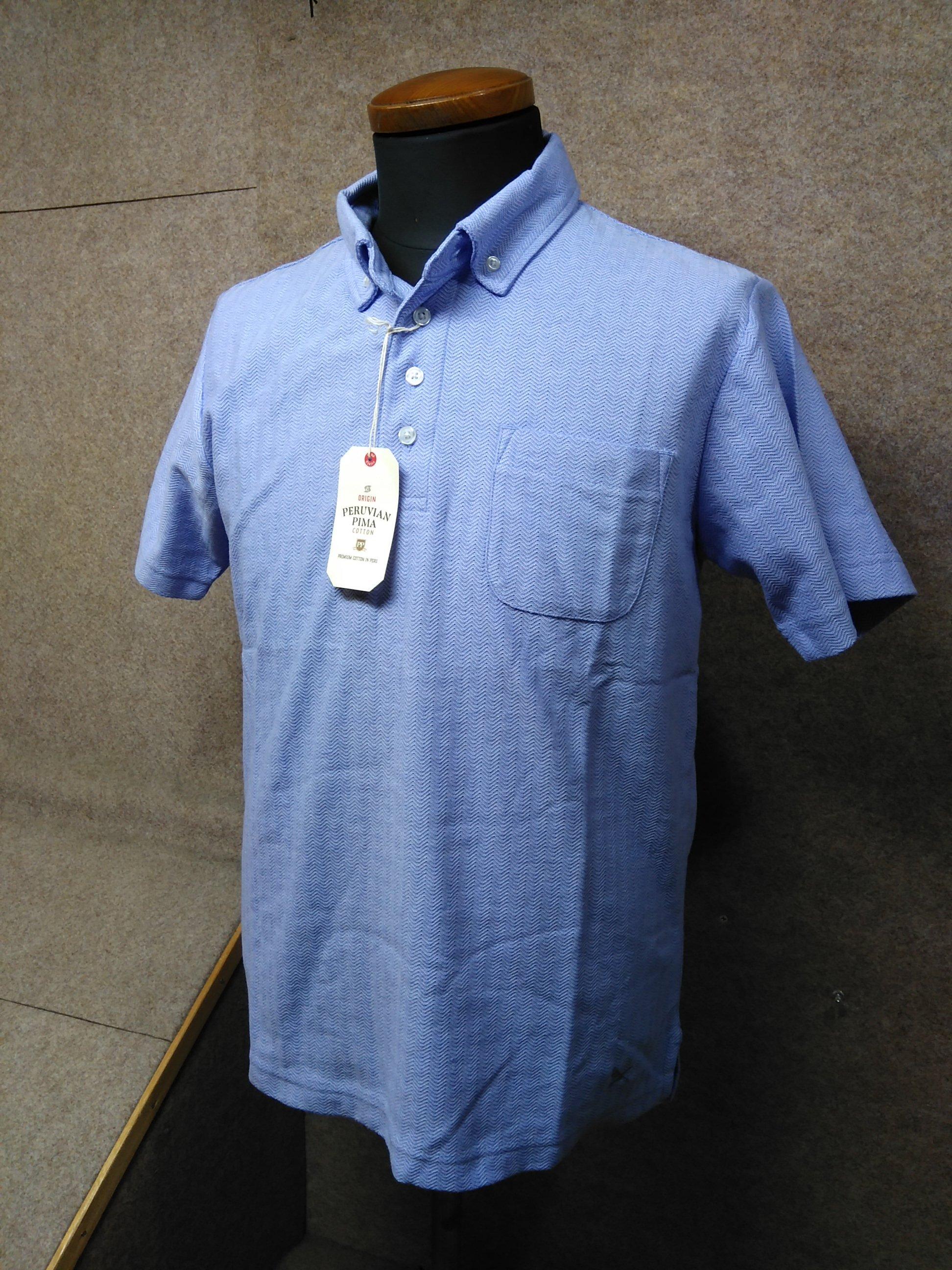 エディーバウアー メンズポロシャツ S ブルー系 ボタンダウン my991c