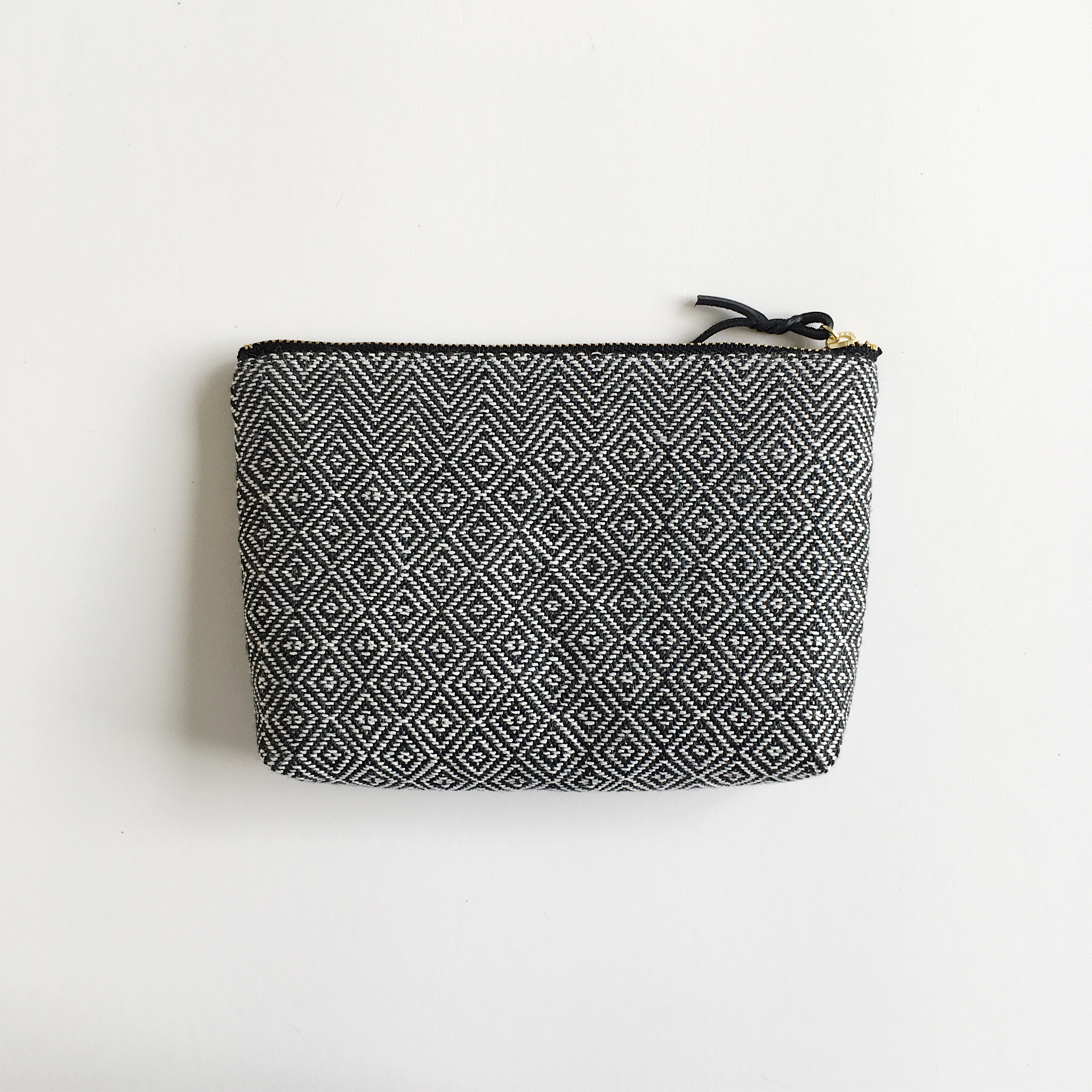 Make up bag Black herringbone & Bird's-eye #1