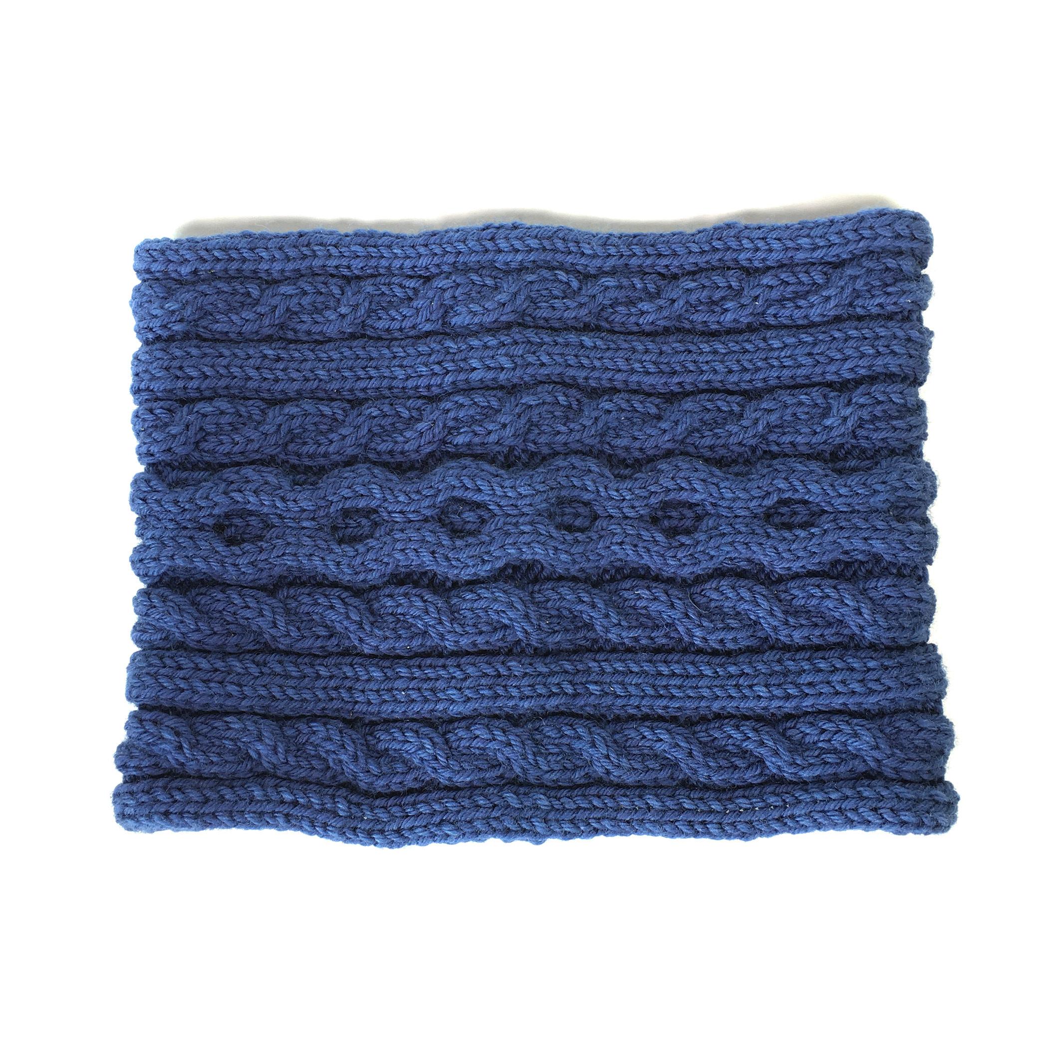 Merino wool natural indigo Snood