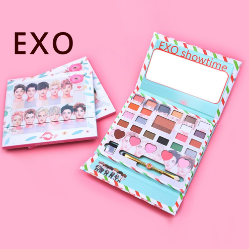 New Korea Exo Eye Makeup Nudes Palette 26colors Matte Eyeshadow Pallete Glitter Powder Eye Shadow With Brush Set Stamp Pigment Beauty & Health