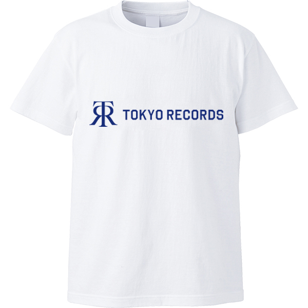 TOKYO RECORDS TEE(WHT×NVY)
