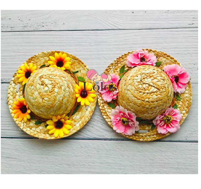 お花とお花♡麦わら帽子