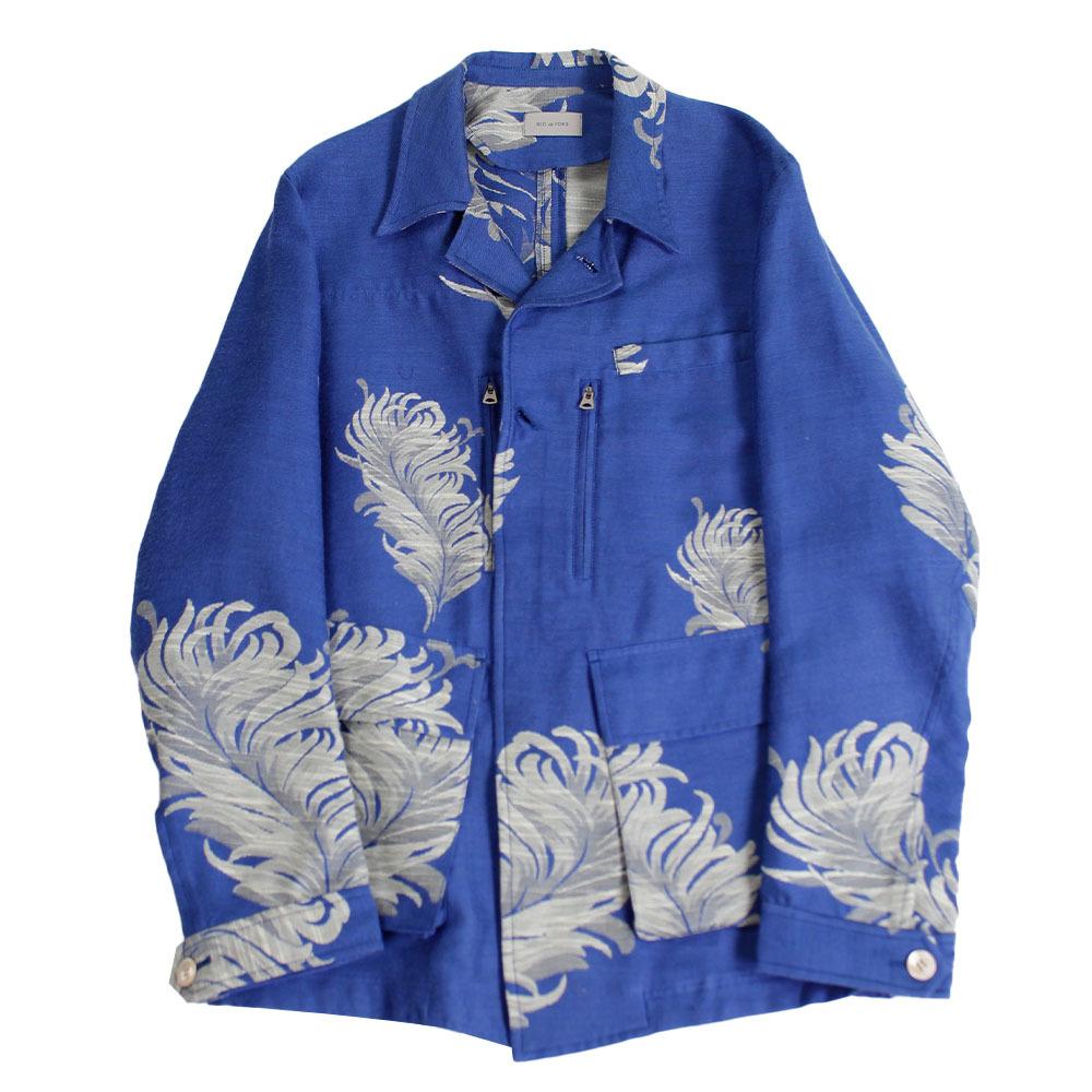 BED J.W. FORD Father pattern Jacket Blue