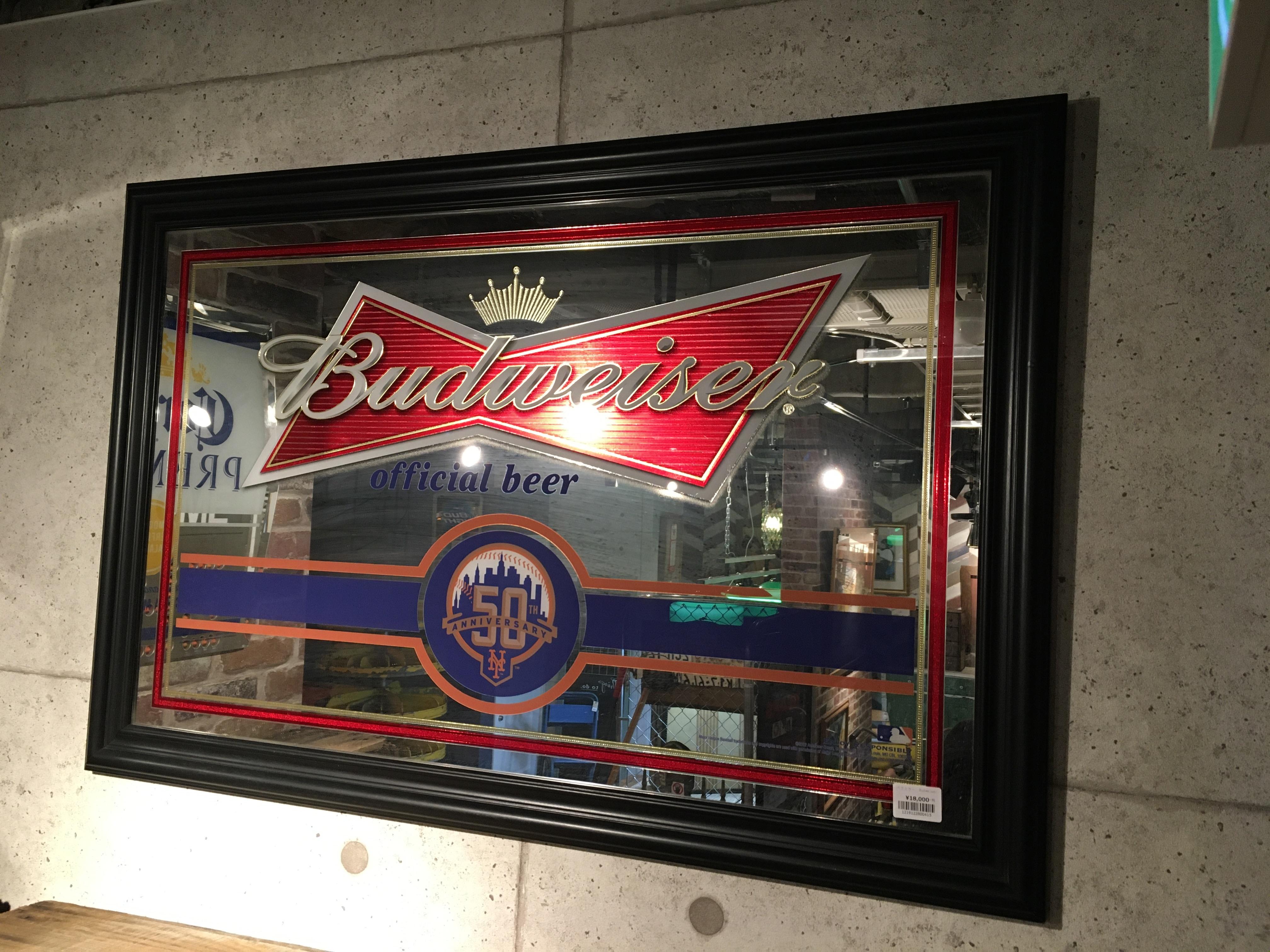 品番0415 パブミラー Budweiser バドワイザー インテリア 鏡 011
