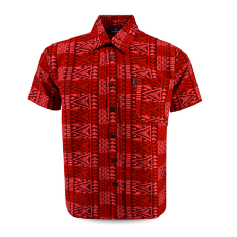 Aloha Shirt 2019 Vermilion【Size:2XL】