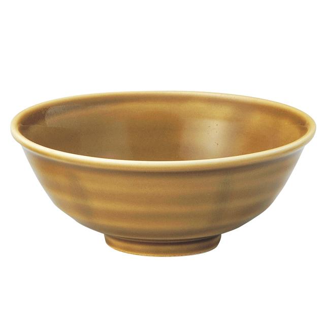 強化磁器 ろくべい茶碗 わら 【2075-6020】