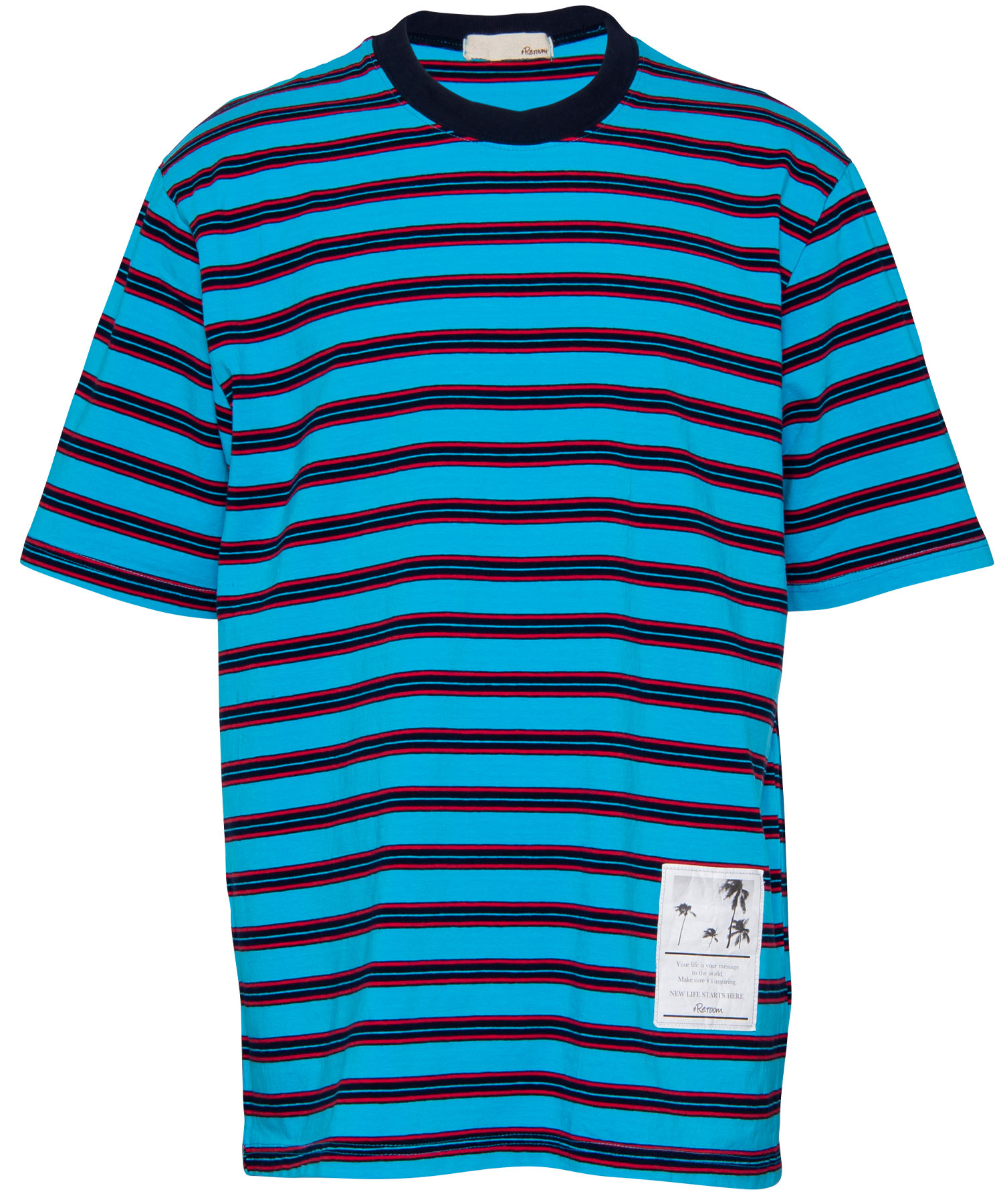 MULTI BORDER BIG T-shirt[REC309]