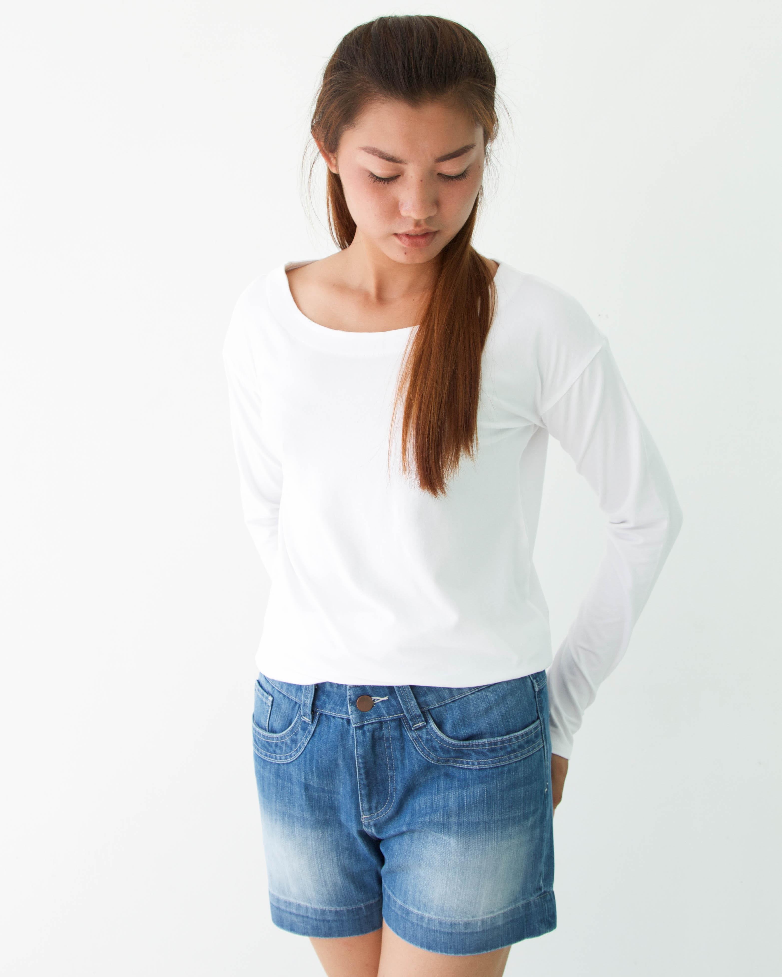 デニムショートパンツ(夏空色) Denim Shorts (Summer Sky Blue)