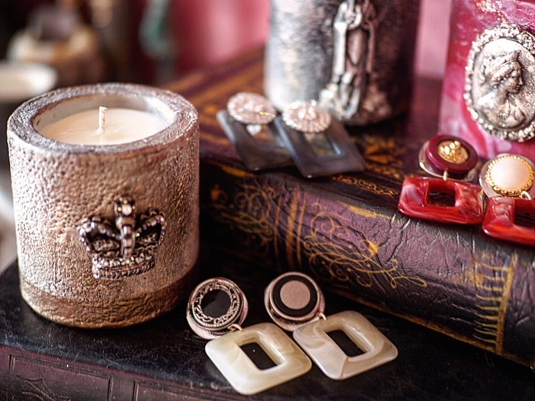 Vintage candle & earclip (collaboration set 7)