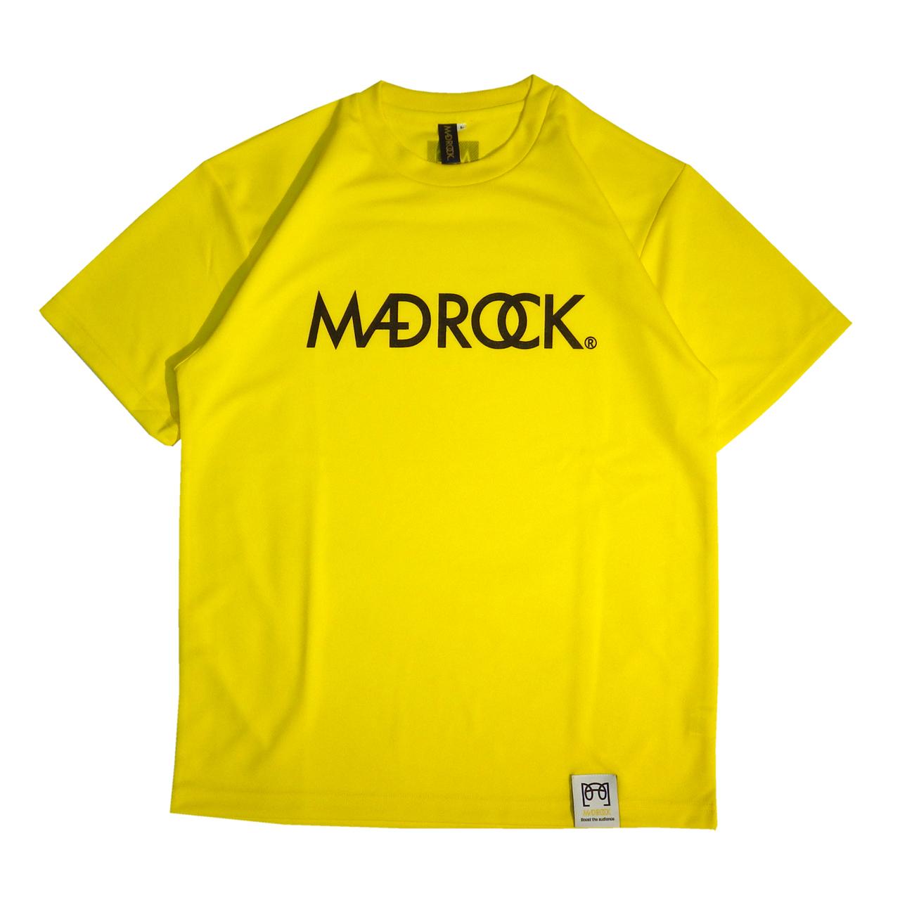 マッドロックロゴ Tシャツ/ドライタイプ/イエロー