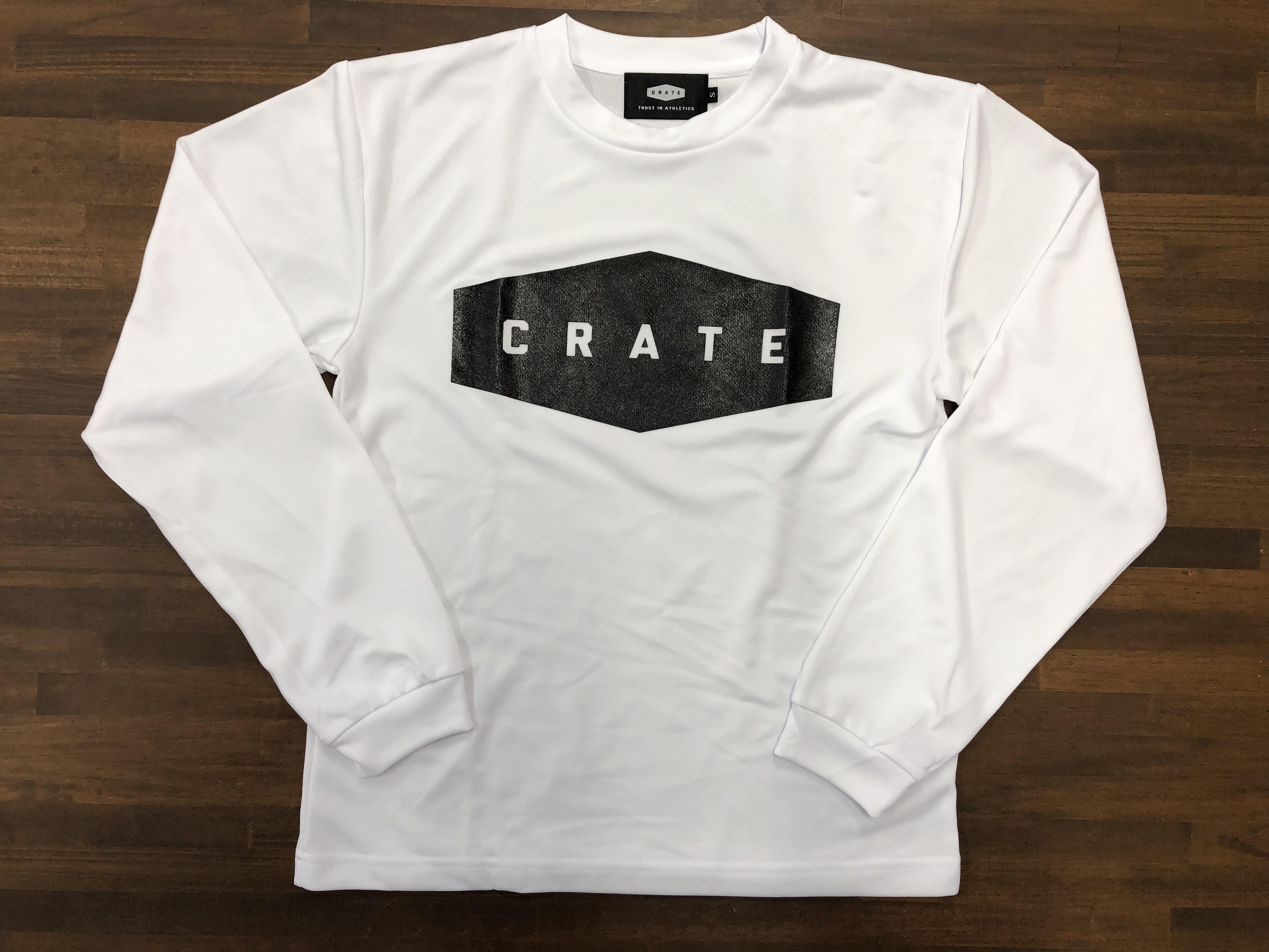 メッシュロングスリーブシャツ【CRATE】 MESH L/S Tee  2020 WHITE