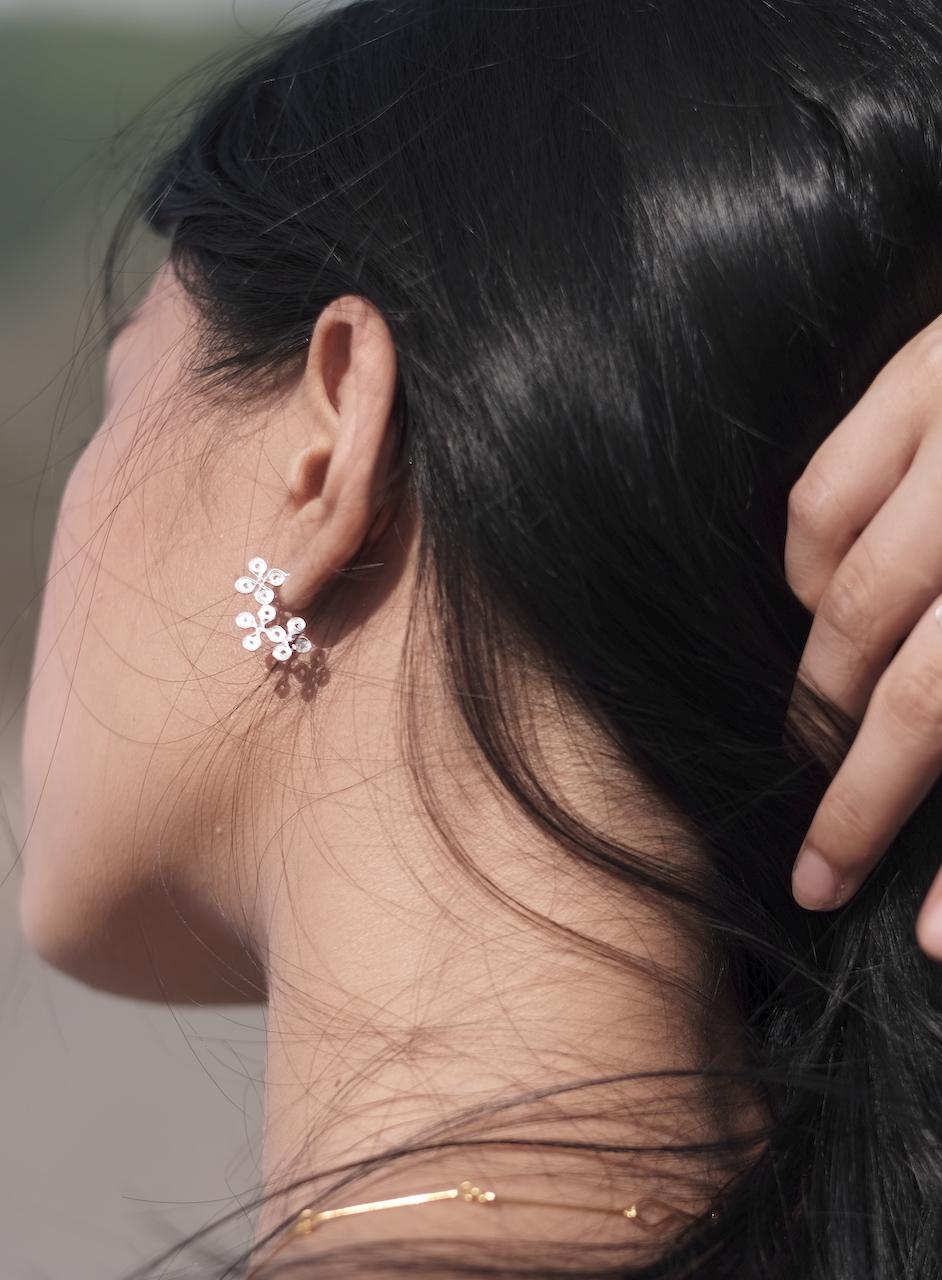 Hotokenoza(仏の座) - Earrings / Silver