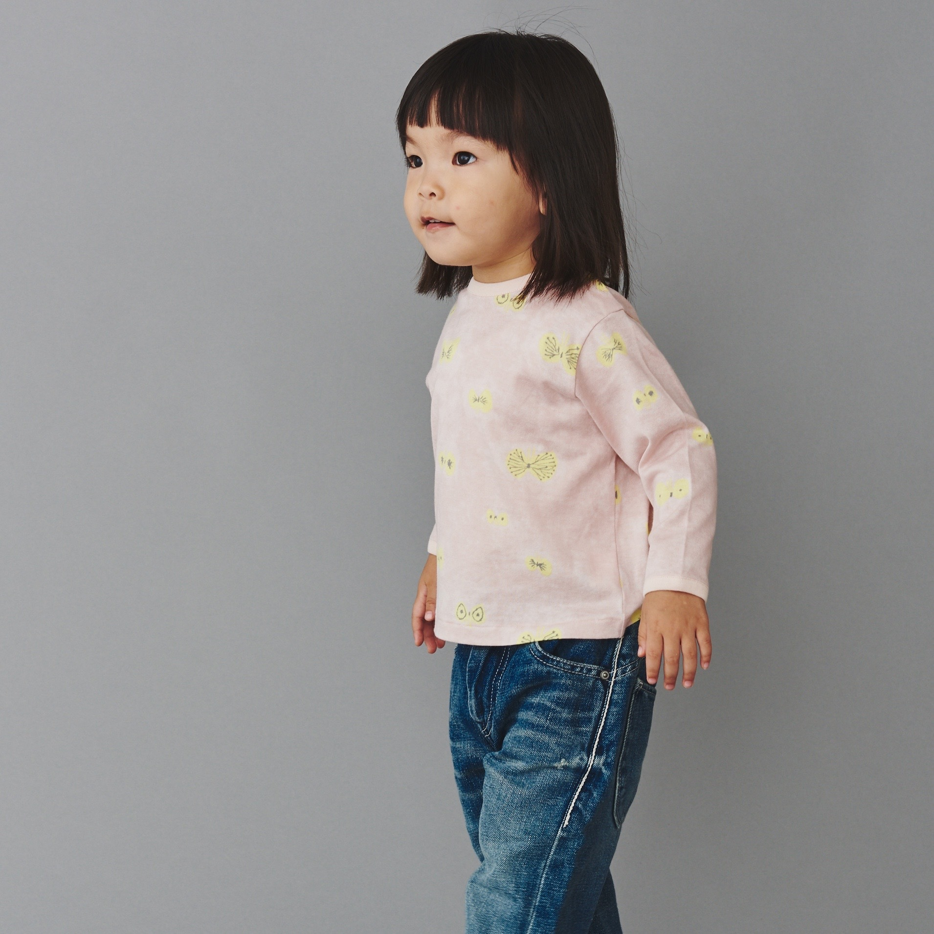 《mina perhonen 2019AW》hana hane 長袖カットソー / light pink