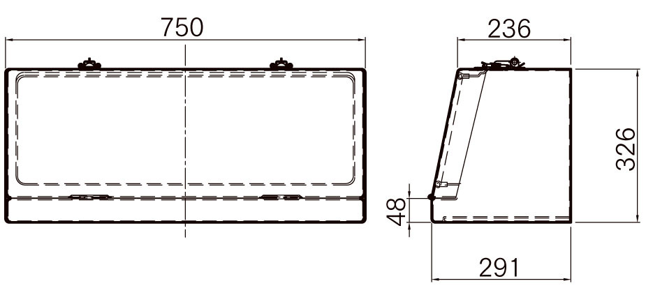 FRP工具箱【NPF-750B 黒】