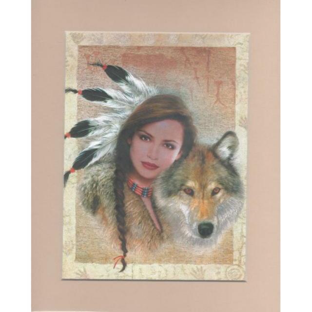 【アルミ彫刻画】狼と少女[a445ms]