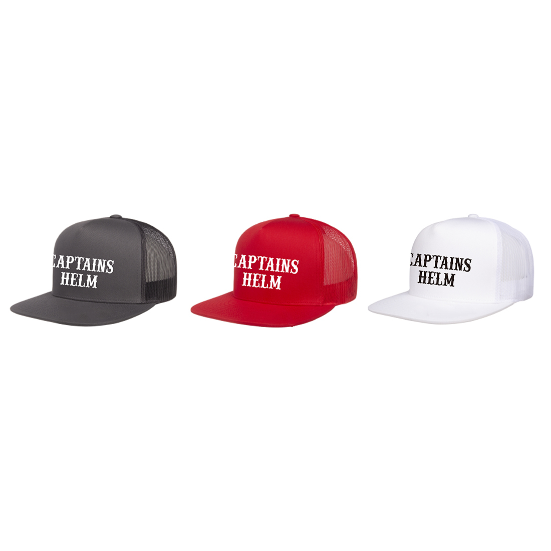 CAPTAINS HELM #Local Logo Mesh Cap