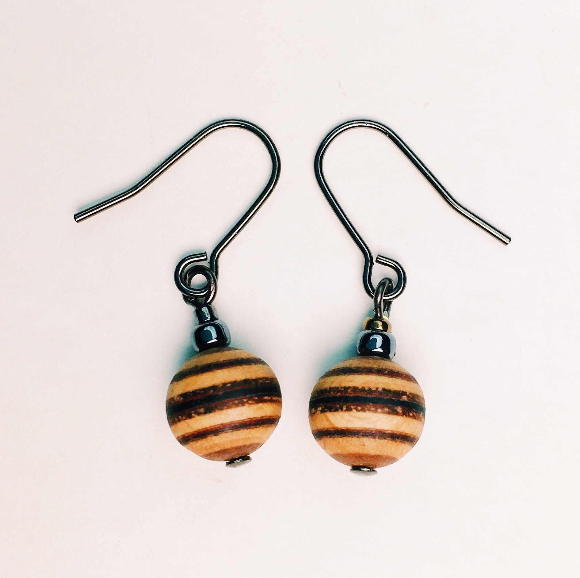 wood ball beads pierce