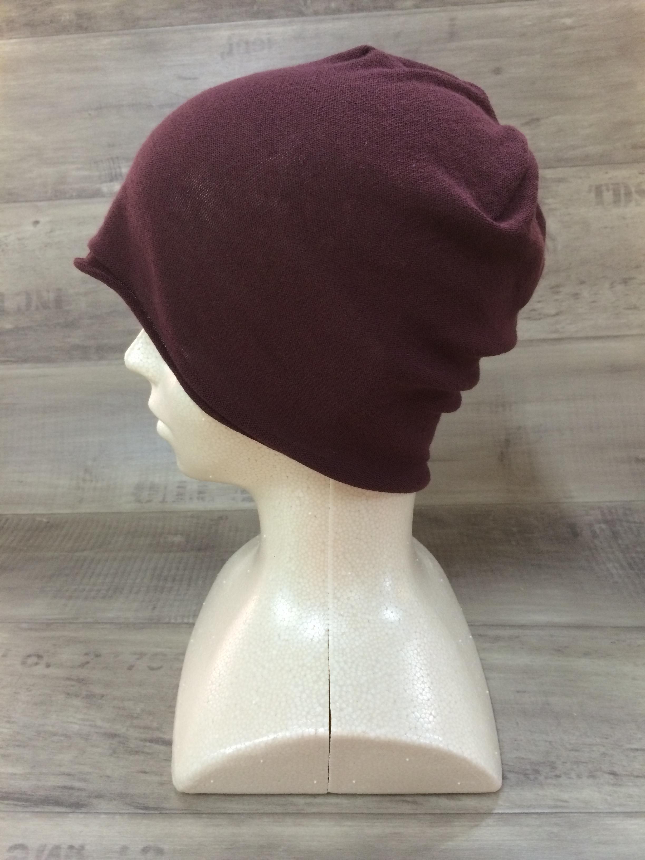 【送料無料】こころが軽くなるニット帽子amuamu|新潟の老舗ニットメーカーが考案した抗がん治療中の脱毛ストレスを軽減する機能性と豊富なデザイン NB-6060|黒鳶(くろとび)