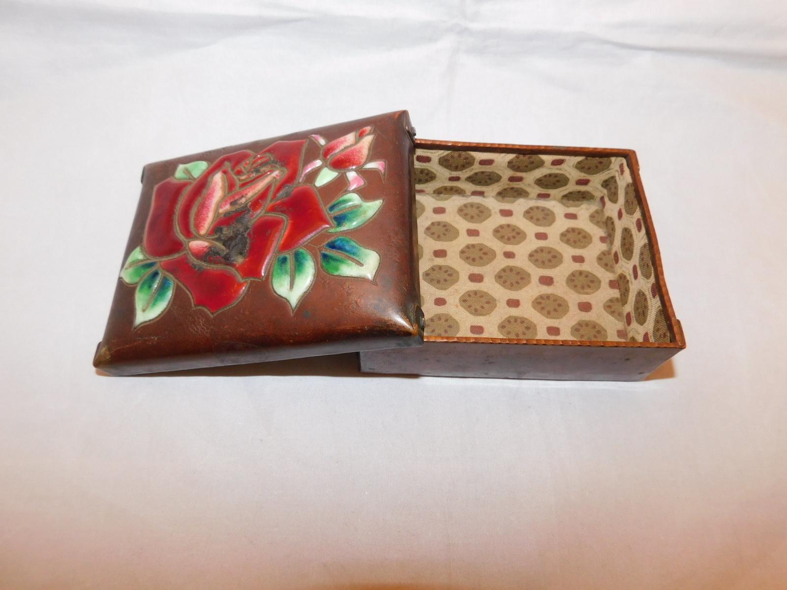 安藤七宝薔薇宝石入れ Ando cloisonne enamel jewelry case(rose)