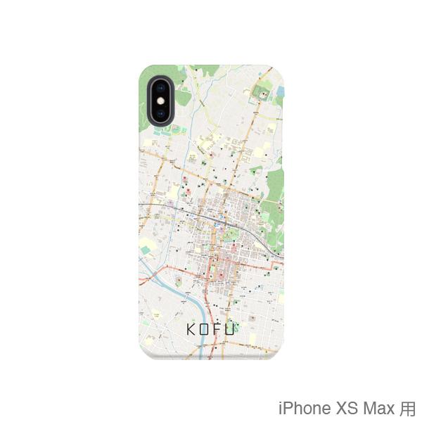 【甲府】地図柄iPhoneケース(バックカバータイプ・ナチュラル)