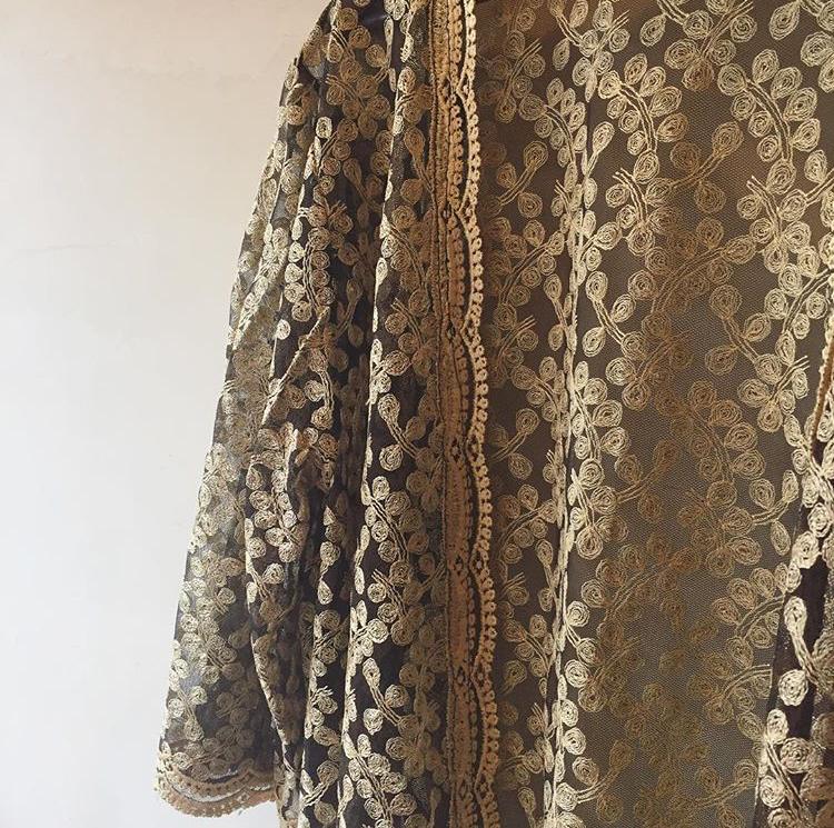 vintage embroidery haori