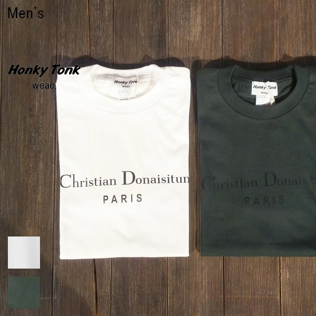 Honky Tonk weac. プリントTシャツ  Christian Donaisitun PARIS (2Color)