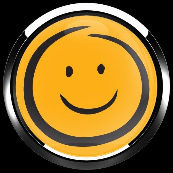 ゴーバッジ(ドーム)(CD1089 - EMOJI SMILE HAND DRAWING) - 画像4