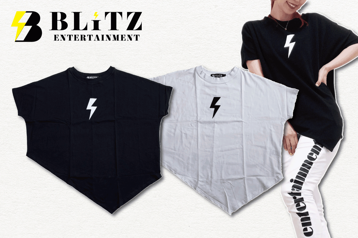 BLiTZドルマンTシャツ(ホワイト、ブラック)